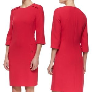 Michael Kors Azalea Wool Crepe Sheath Dress 6